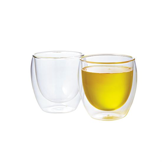 Pavina Double Wall Glass Cups (Set of 2)