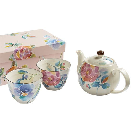 Floral Expression Teapot and Cups Set