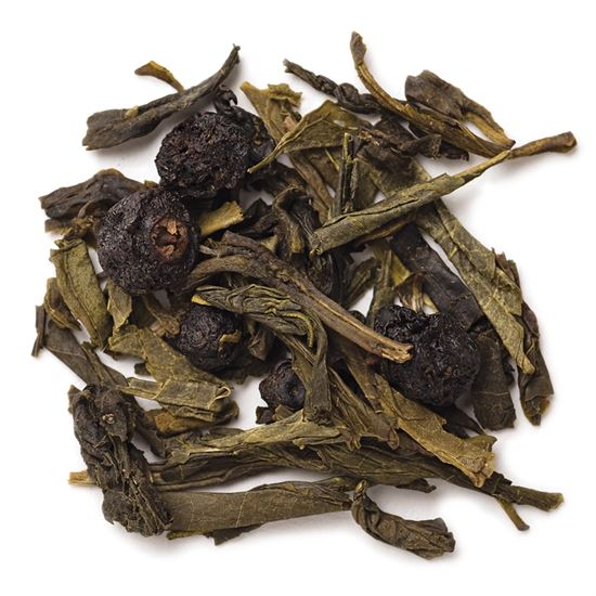 Blueberry loose leaf green tea