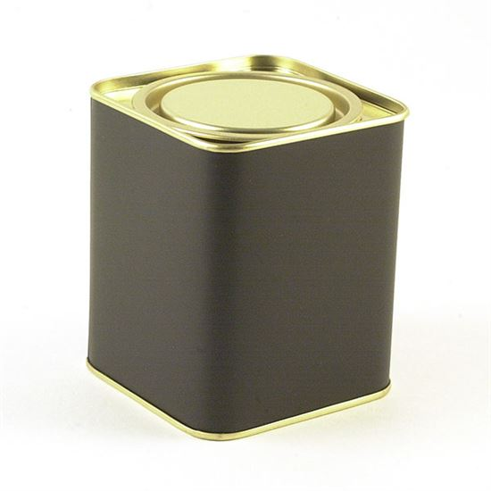 4-oz. Black Plug-top Tin with lid