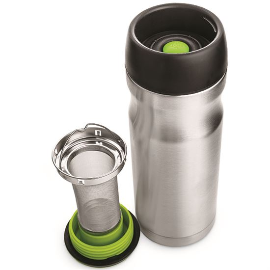 Stainless Steel Travel Mug with Infuser